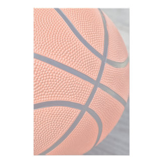 Colorful Orange Basketball Stationery