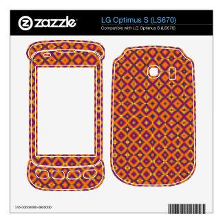 colorful orange purple pattern skin for the LG optimus s