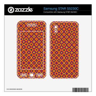 colorful orange purple pattern samsung STAR S5230C skins