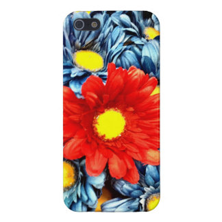 Colorful Orange Red Blue Gerber Daisies Flowers Cover For iPhone SE/5/5s