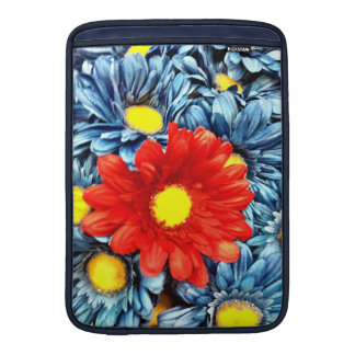 Colorful Orange Red Blue Gerber Daisies Flowers MacBook Air Sleeve