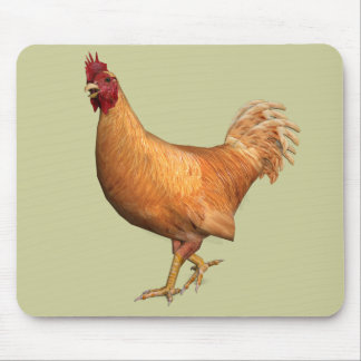 Colorful Orange Rooster Mouse Pad
