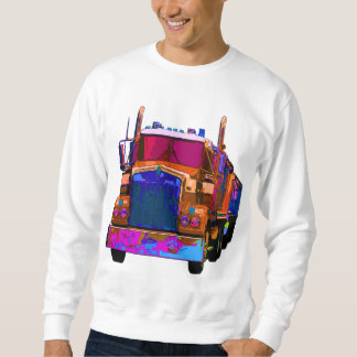 Colorful Orange Semi Truck Sweatshirt