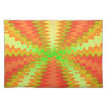 colorful orange yellow abstract art placemat