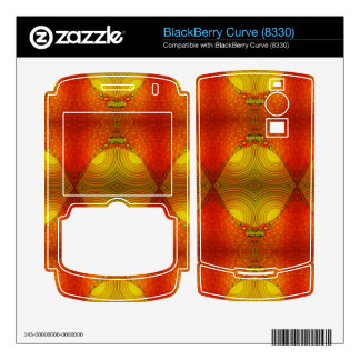 colorful orange yellow abstract skin for BlackBerry curve