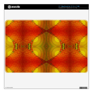 colorful orange yellow abstract skin for the MacBook air