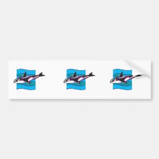 colorful orca design car bumper sticker