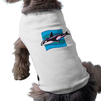 colorful orca design dog shirt
