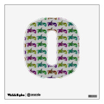 Colorful Orca Patterned Wall Decal