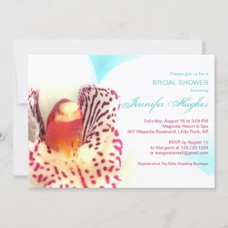 Colorful Orchid Bridal Shower Invitation