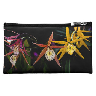 Colorful Orchid Flowers Makeup Bag