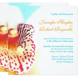 Colorful Orchid Wedding Invitation