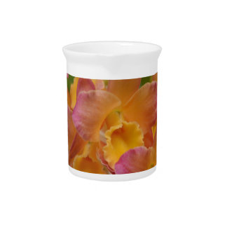Colorful Orchids Beverage Pitcher