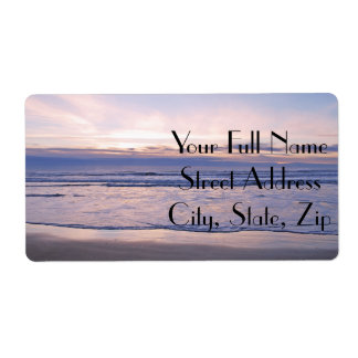 Colorful Oregon Coast Sunset Label