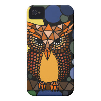 Colorful Original Owl Abstract Art Design iPhone 4 Cover