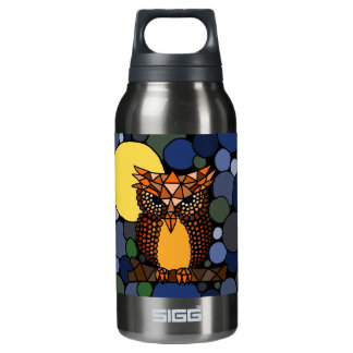 Colorful Original Owl Abstract Art Design Insulated Water Bottle