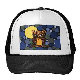 Colorful Original Owl Abstract Art Design Trucker Hat
