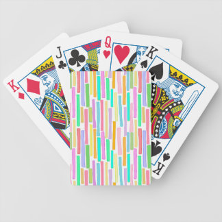 Colorful original painting bright color stripes bicycle playing cards