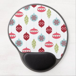 Colorful Ornament Pink Red Green Christmas Holiday Gel Mouse Pad