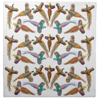 Colorful Ornamental Pheasants Napkin