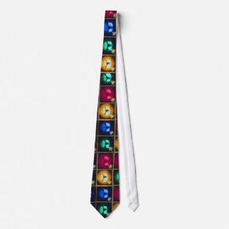 Colorful Ornaments In A Box Neck Tie