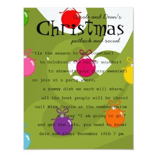 Colorful Ornaments Invite