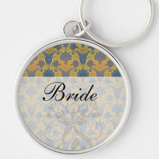 colorful ornate damask keychain