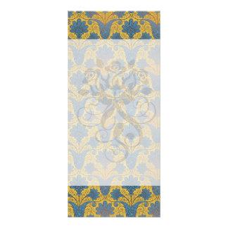 colorful ornate damask custom rack cards
