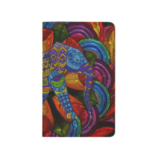 Colorful Ornate Elephant and Mandala Journal
