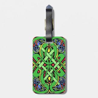 Colorful Ornate Irish Celtic Knot Luggage Tag