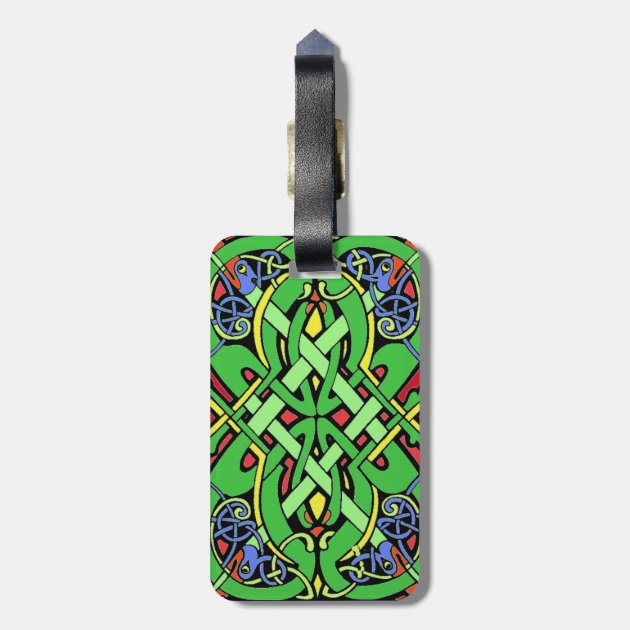 Luggage Bags Accessories Damask,Historic Art Style Ornate Address Tags