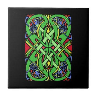 Colorful Ornate Irish Celtic Knot Tile