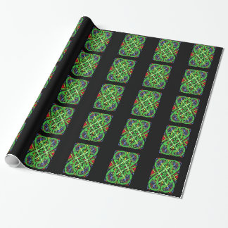 Colorful Ornate Irish Celtic Knot Wrapping Paper