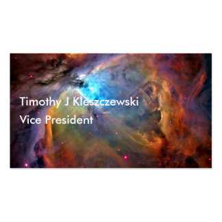 Colorful outer space Nebula Business Card