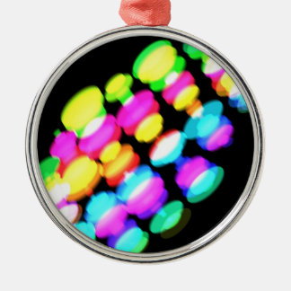 Colorful Oval Pattern Metal Ornament