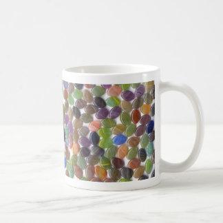 Colorful Oval Stone Beads Classic White Coffee Mug