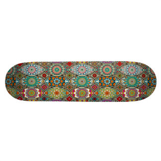 Colorful oval various mandalas floral pattern skateboard deck