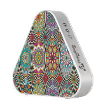 Colorful oval various mandalas floral pattern speaker