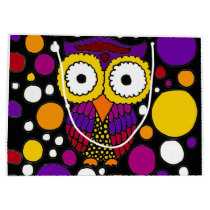 Colorful Owl Abstract Original Large Gift Bag