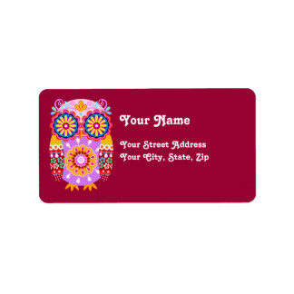 Colorful Owl Address Labels