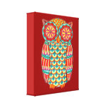 Colorful Owl Art on Canvas - Ready to Hang! Canvas Print