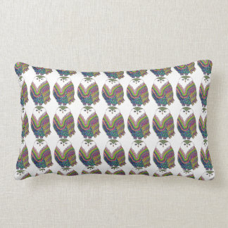 Colorful Owl Bolster Pillow
