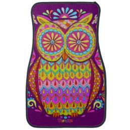Colorful Owl Car Mats - Front Set of 2 Mats