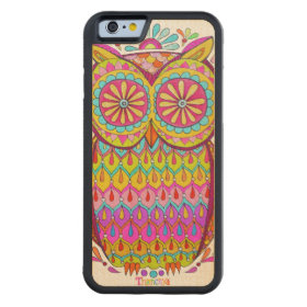 Colorful Owl Carved® Maple iPhone 6 Bumper Case