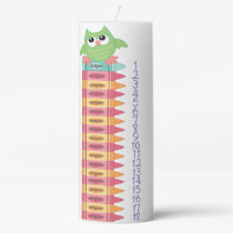 Colorful Owl Countdown Birthday Candle