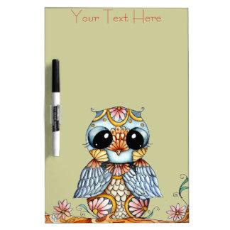Colorful Owl Customizable Dry Erase Board