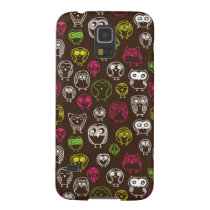 Colorful owl doodle background pattern galaxy s5 case