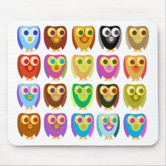 Colorful Owl Fun Mouse Pad