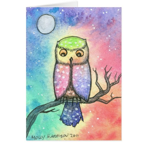 Colorful Owl Greeting Card