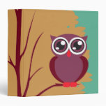 colorful owl in a tree notebook binder